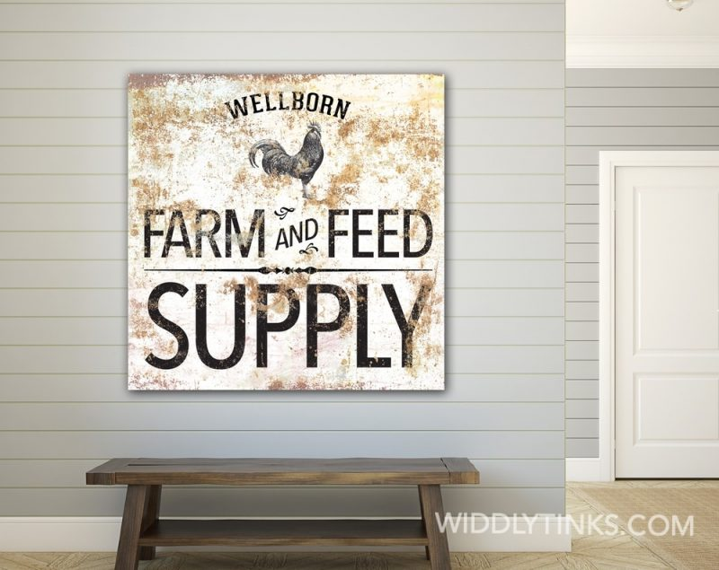 Farm Feed Supply Rooster square room1