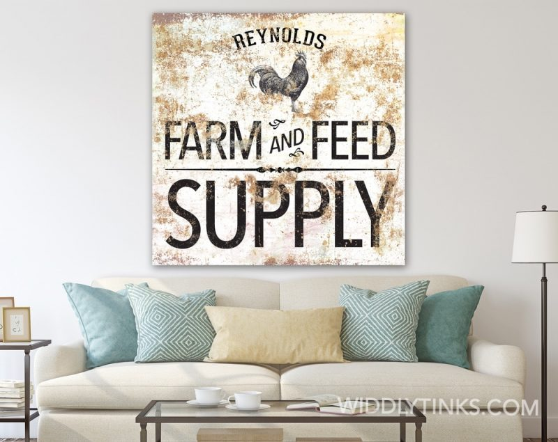 Farm Feed Supply Rooster square room2