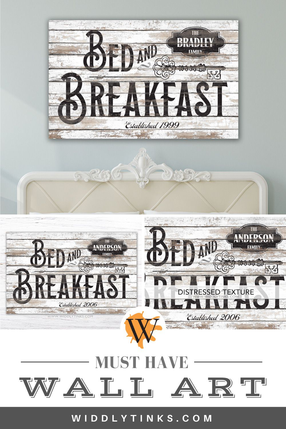 Vintage Farmhouse bed breakfast sign