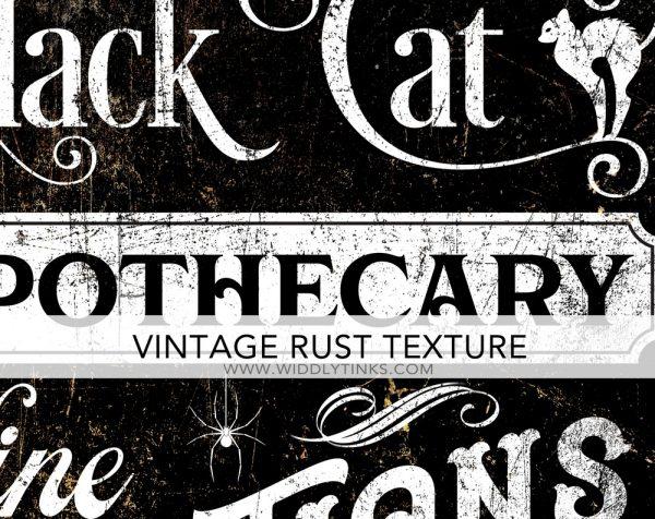 Vintage Halloween Apothecary Sign closeup