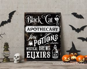 Vintage Halloween Apothecary Sign room