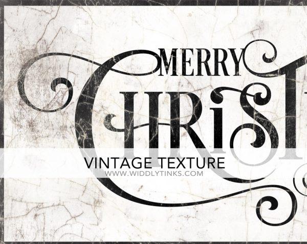 Vintage Merry Christmas Sign closeup