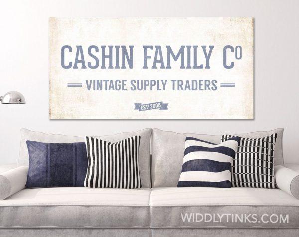 Vintage Supply blue room