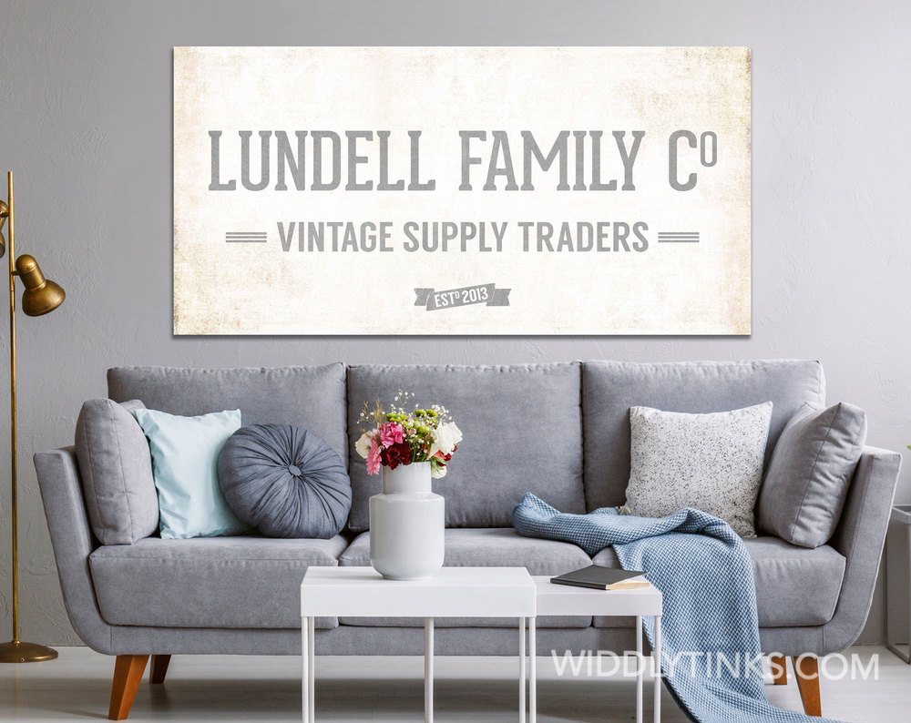 Vintage Supply Co. Family Sign