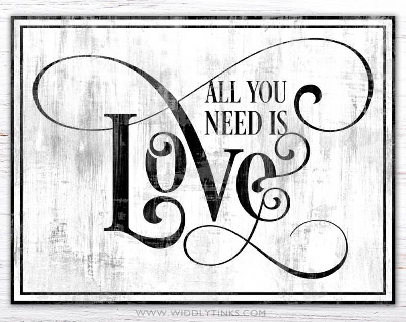 all you need is love grey