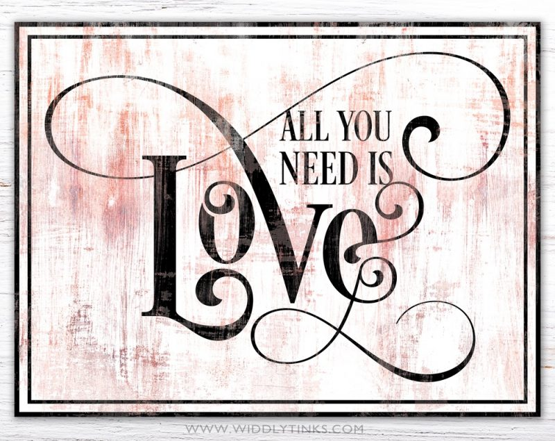 all you need is love red
