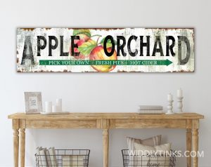 apple orchard room white