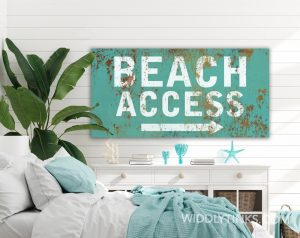 beach access blue room