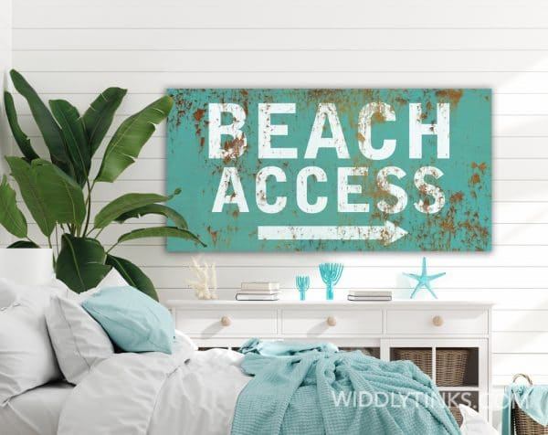 beach access blue room