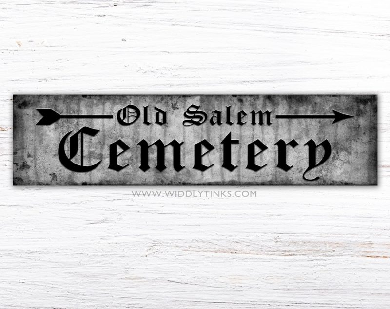 cemetery wall sign halloween