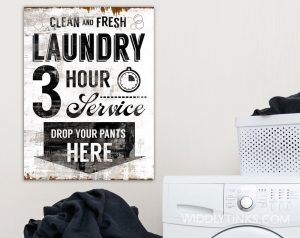 clean fresh laundry room