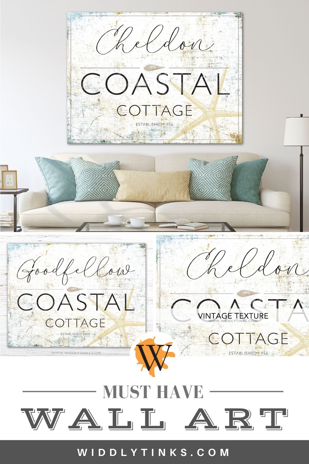 coastal cottage last name established sign