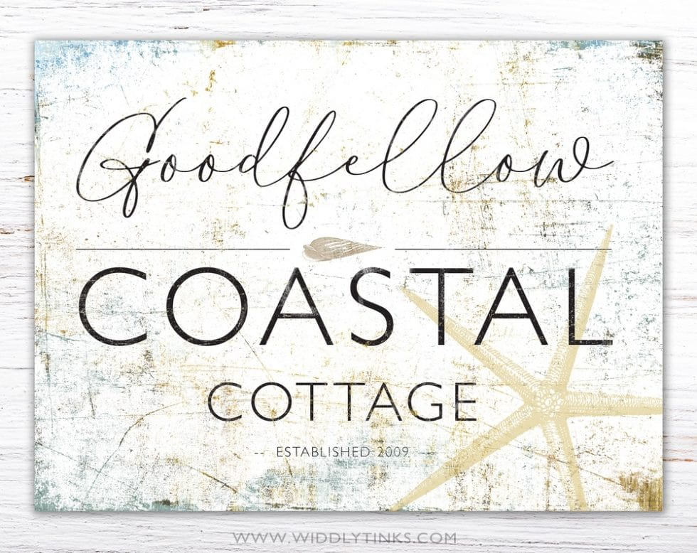 coastal farmhouse cottage beach house sign simple