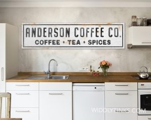 coffee co family name sign