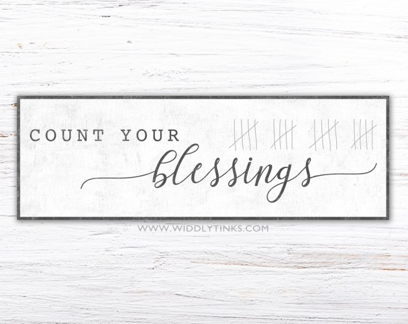 count your blessings simple