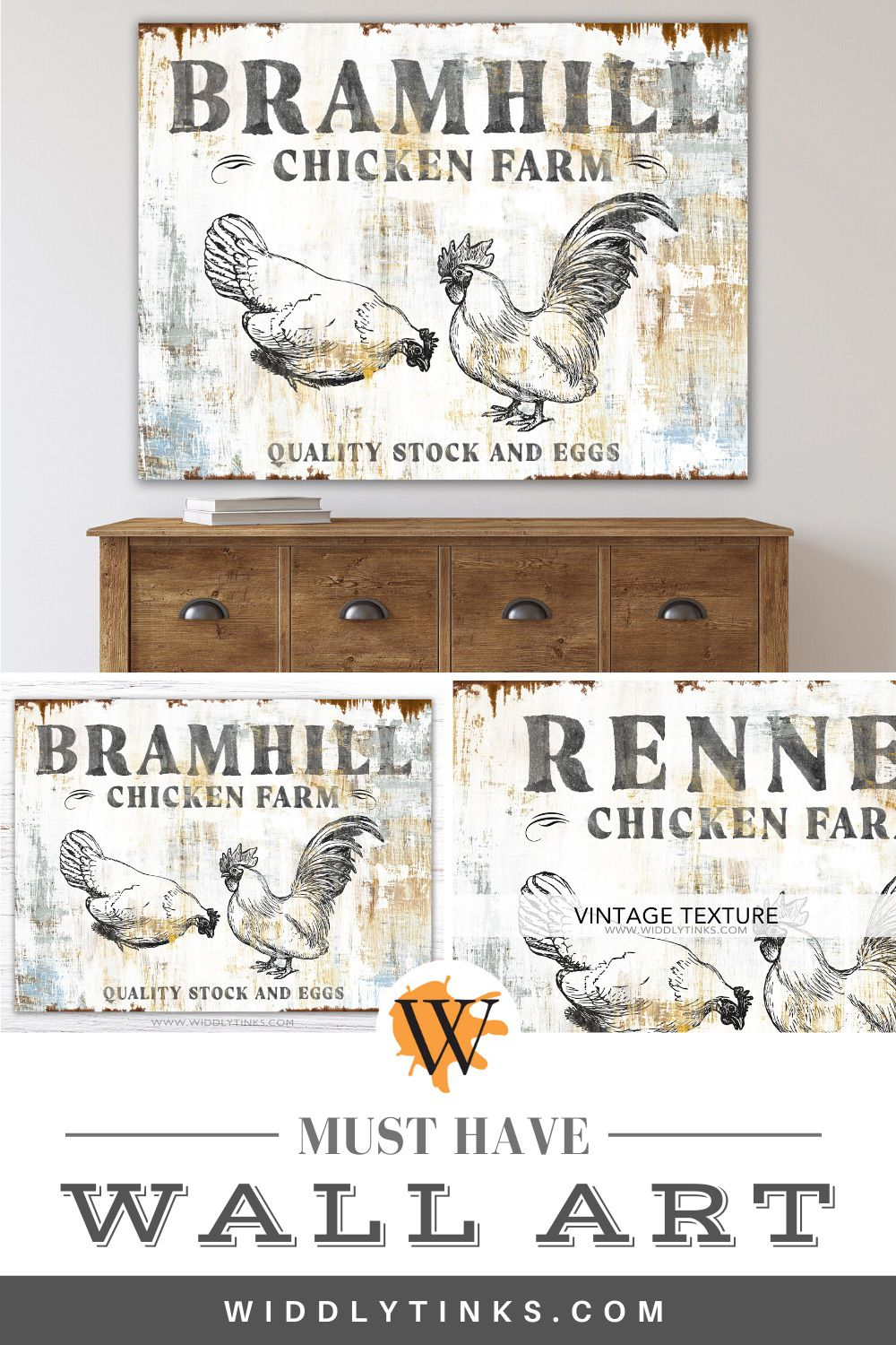country chicken farm family name sign