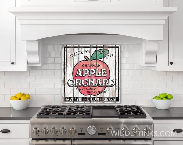 country farmhouse apple orchard sign room1