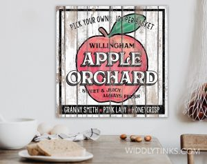 country farmhouse apple orchard sign room2