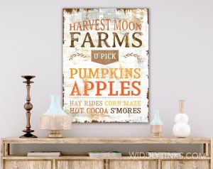 country farmhouse fall autumn harvest sign room
