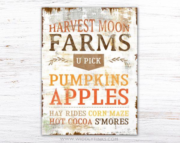 country farmhouse fall autumn harvest sign simple