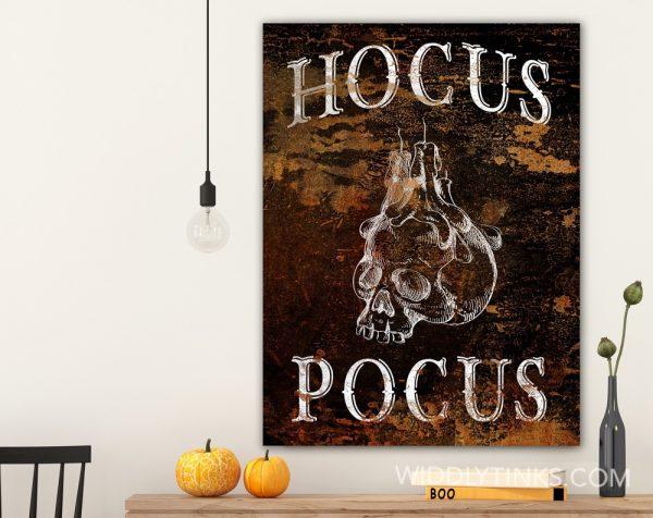 creepy halloween hocus pocus sign room