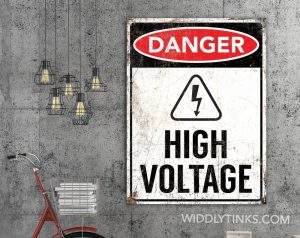 danger high voltage room