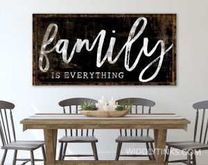 family is everything room black