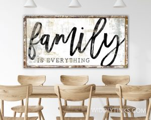 family is everything room white