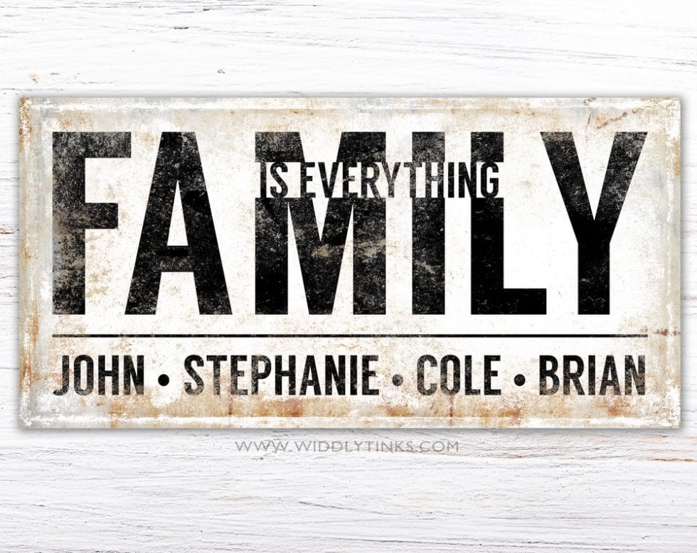 family is everything simple