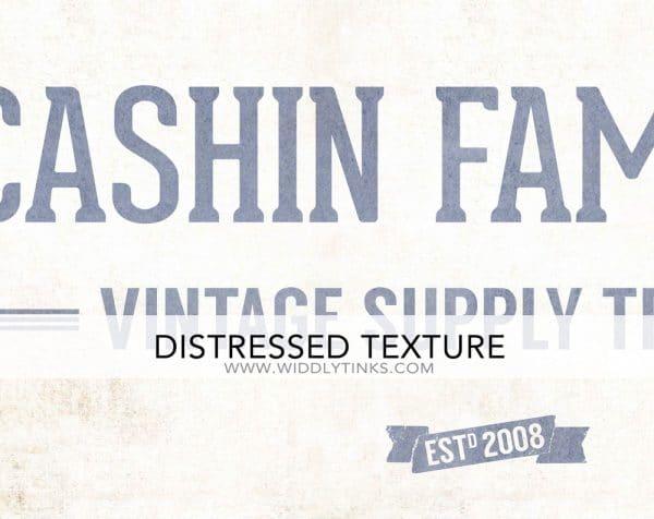 family vintage supply company sign blue closeup