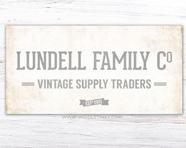 family vintage supply company sign gray simple