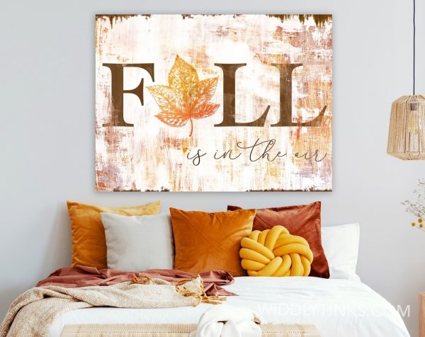 farmhouse chic fall in the air sign room