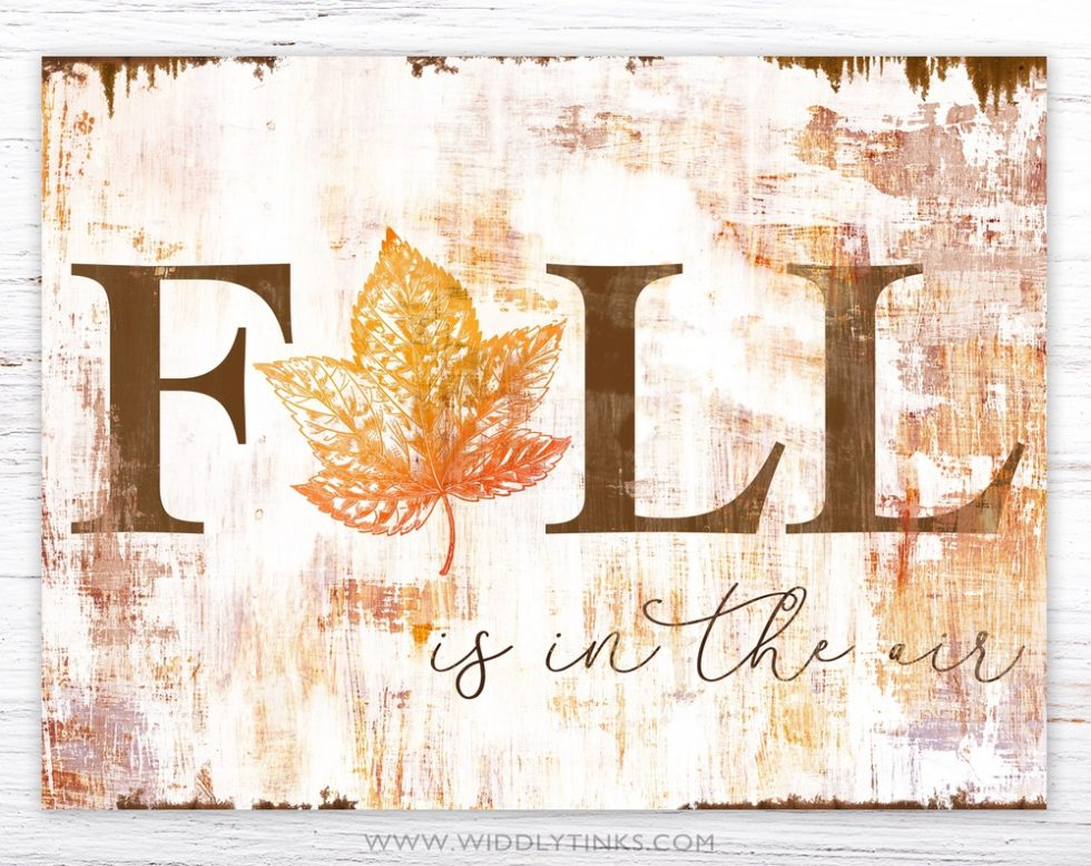 farmhouse chic fall in the air sign simple