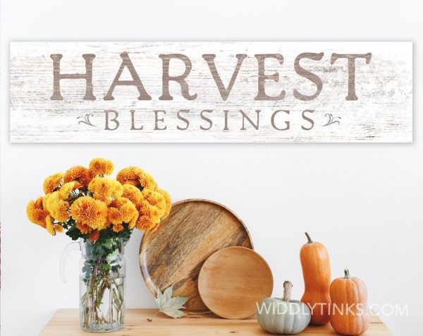 farmhouse chic harvest blessings fall sign room
