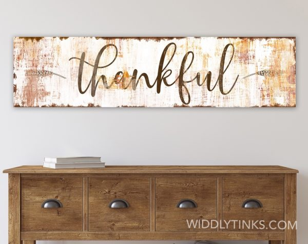 farmhouse chic thankful fall sign room