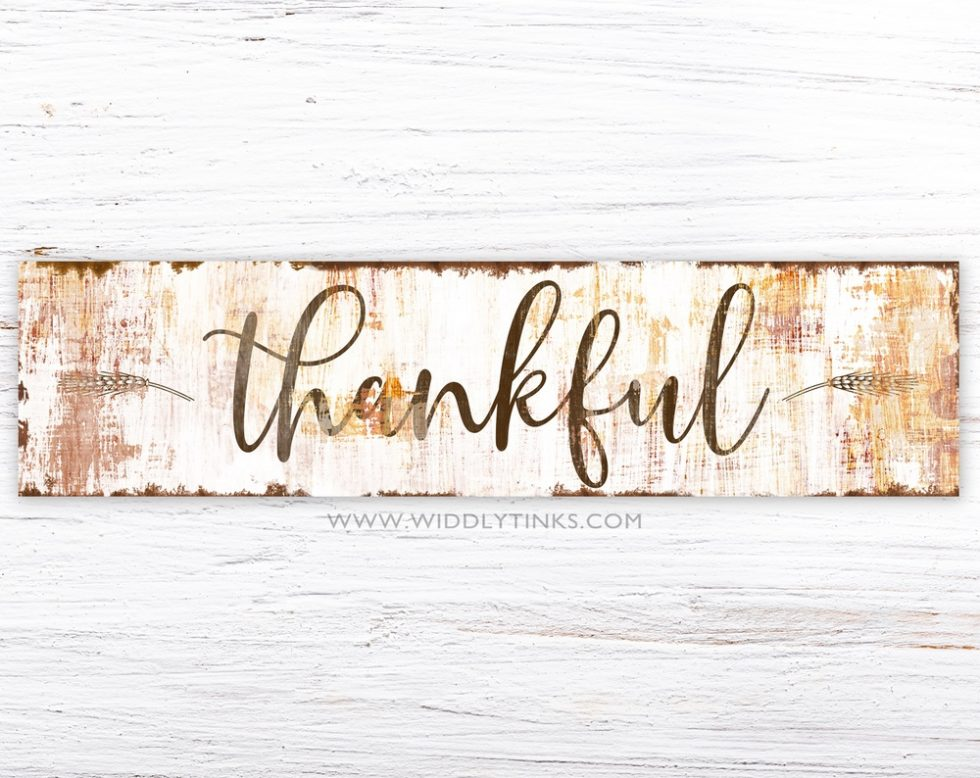 farmhouse chic thankful fall sign simple