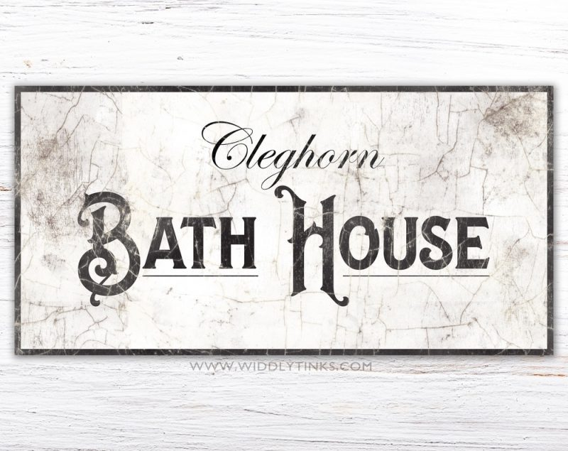 french country family bath house sign simple