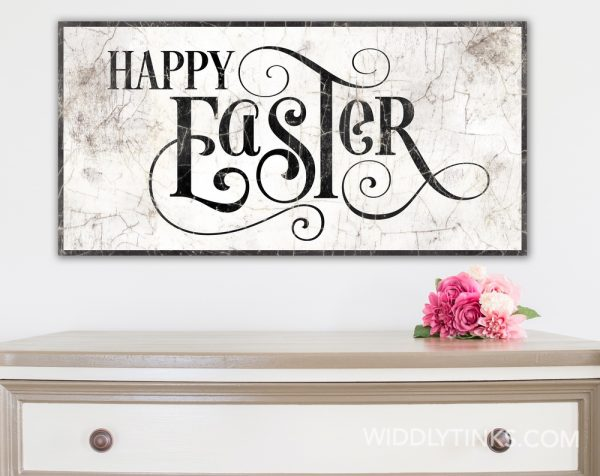 french country happy easter sign room