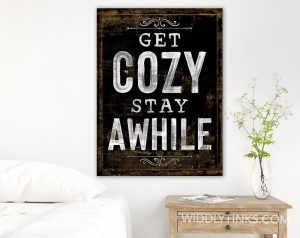 get cozy stay awhile room black
