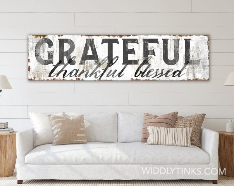 grateful thankful blessed room white
