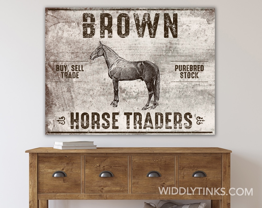 Rustic Western Horse Traders Sign