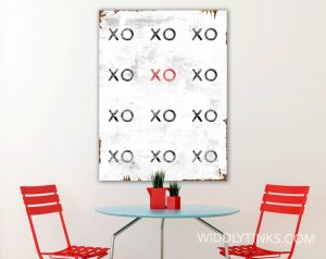 industrial modern xoxo hugs kisses room