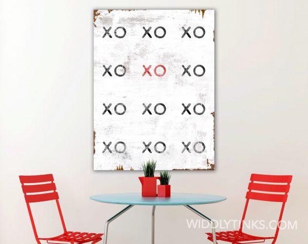 industrial modern xoxo hugs kisses room