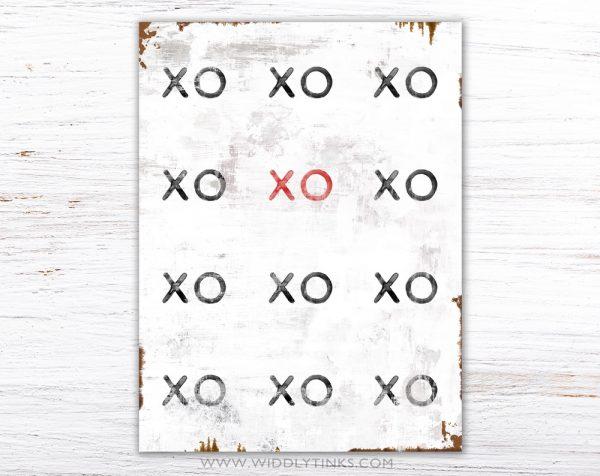 industrial modern xoxo hugs kisses