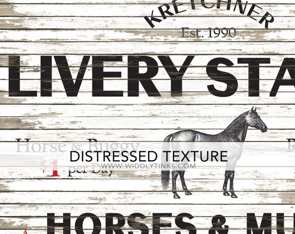 livery stable horse mule sign closeup