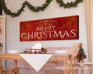 Merry Christmas Personalized Family Name Sign