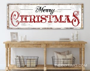 Vintage Style Merry Christmas Sign