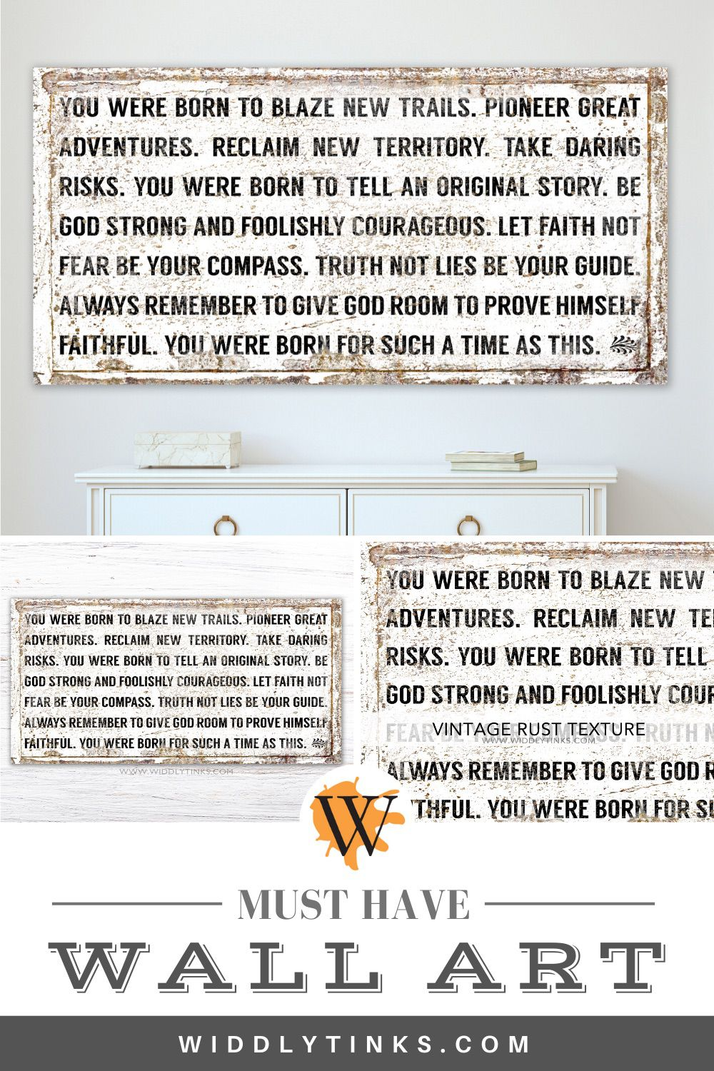 modern farmhouse blaze new trails quote sign