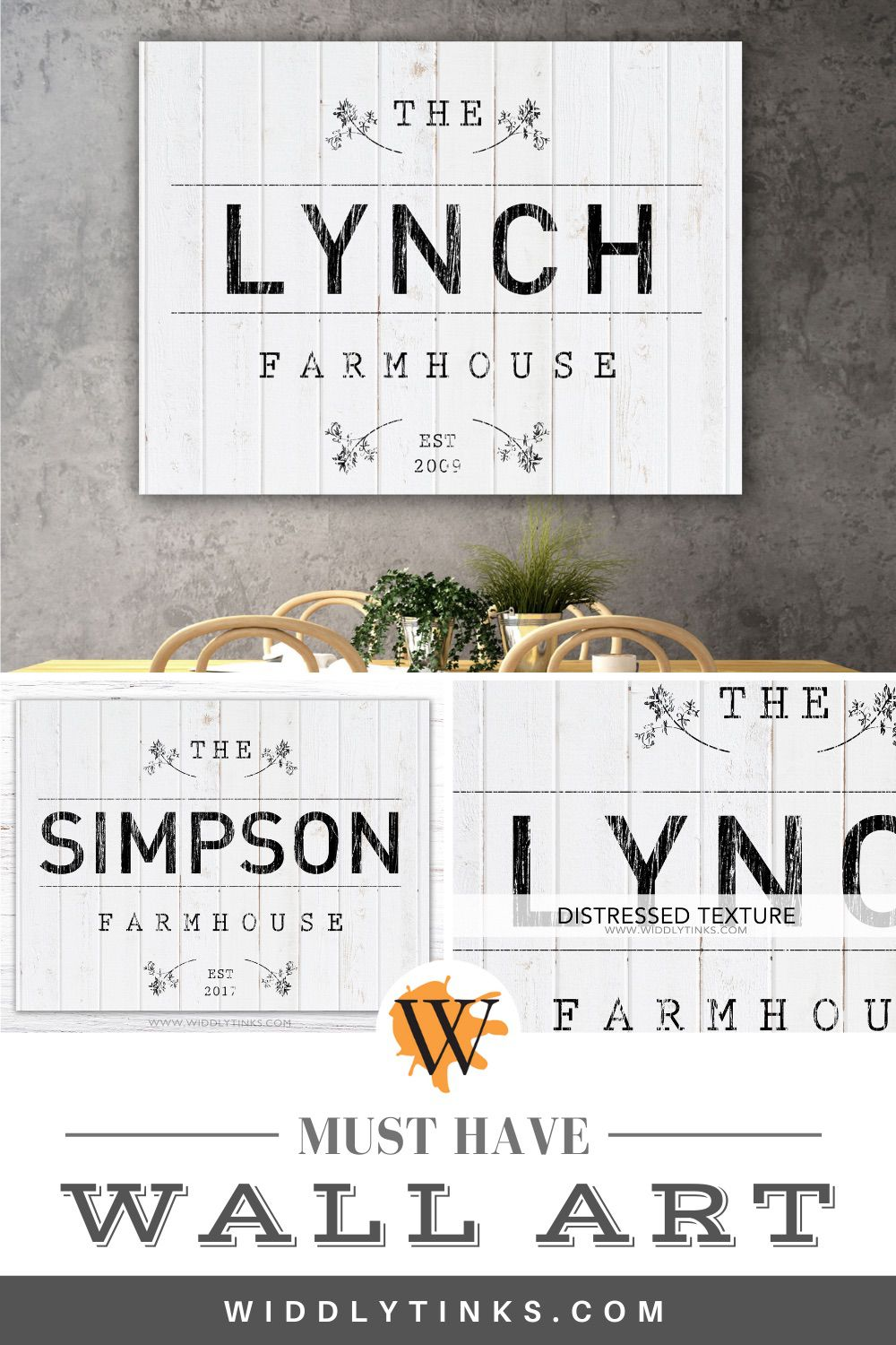modern farmhouse established family sign