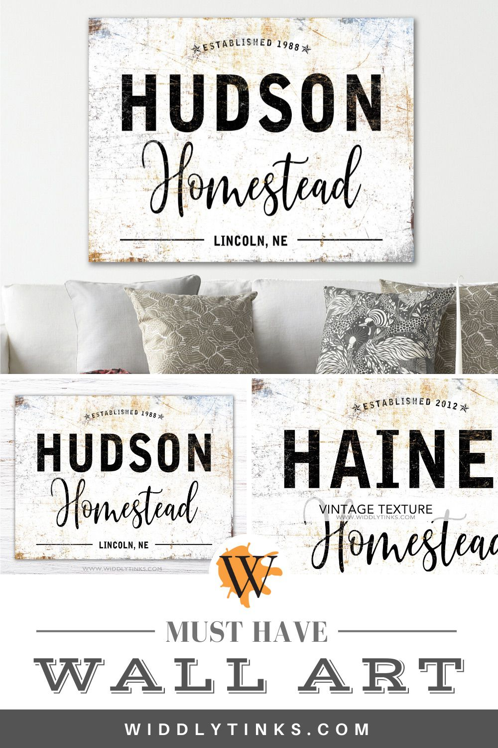 modern farmhouse established homestead family sign white